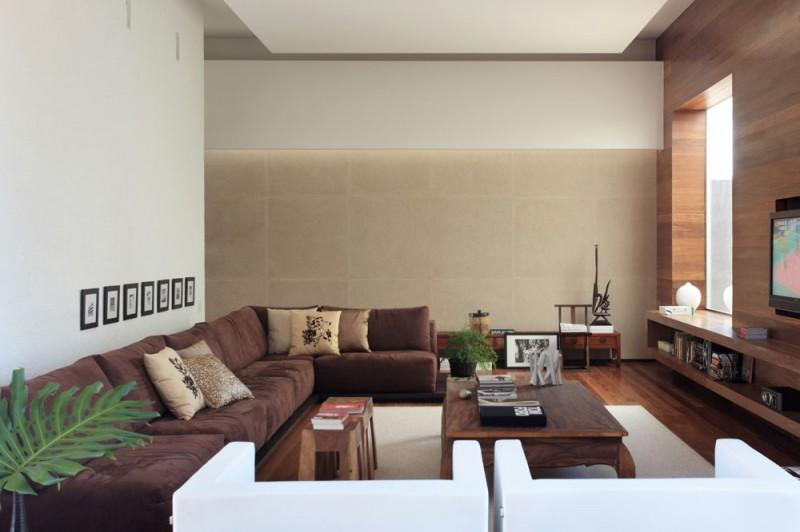 Wohnzimmer Modern Braun Einfach On Für Einrichten Faszinierend 8