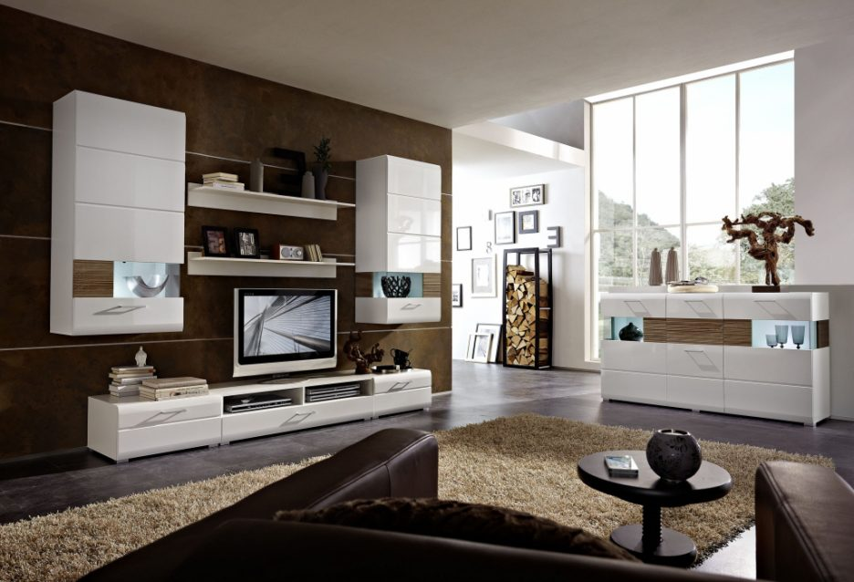 Wohnzimmer Modern Braun Einzigartig On Innerhalb Stunning Ideas House Design 5