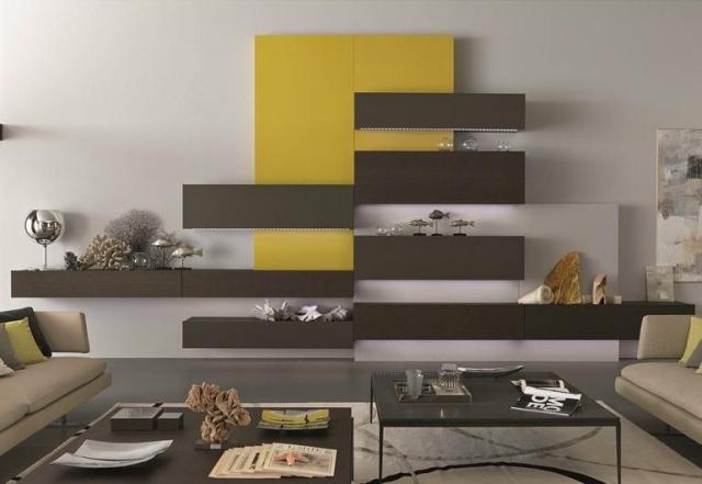 Wohnzimmer Modern Braun Interessant On Auf Design Gelb Faszinierend 6