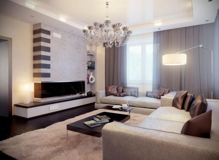 Wohnzimmer Modern Braun Kreativ On Auf Design 1