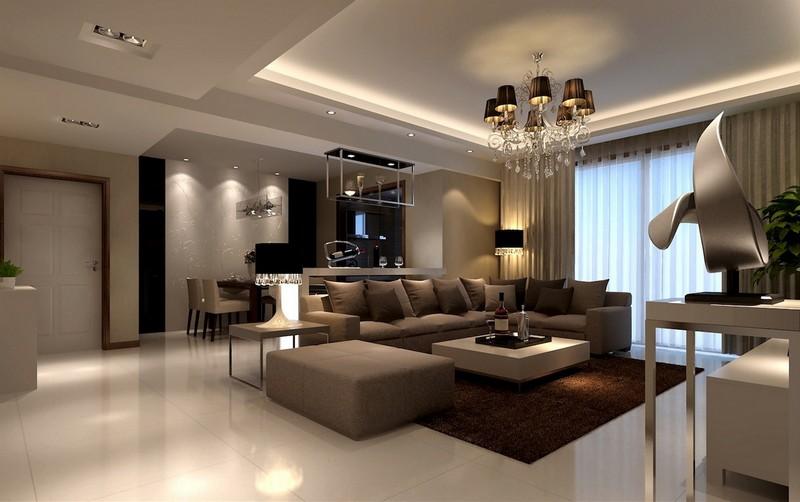 Wohnzimmer Modern Braun On Mit Awesome Contemporary House 9