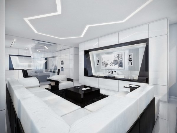 Wohnzimmer Modern Schwarz Weiß On überall Grau Mxpweb Com Modernes 9
