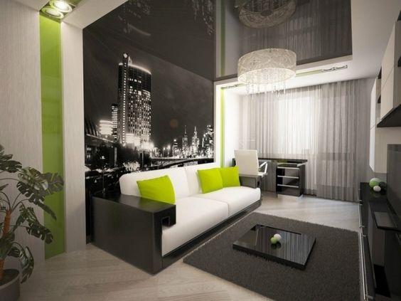 Wohnzimmer Modern Schwarz Weiß Stilvoll On In Bezug Auf Tapezieren Wande Ideen 8