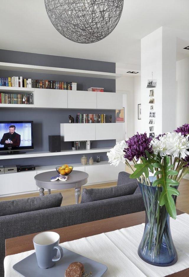 Wohnzimmer Modern Wand Streichen On In Bezug Auf Stunning Ideen Grau Contemporary 8