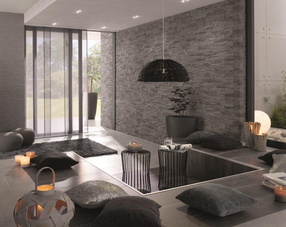 Wohnzimmer Modern Wand Streichen Wunderbar On In Ideen 6