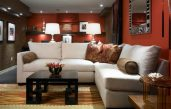 Wohnzimmer Rot Braun