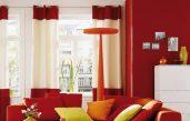 Wohnzimmer Rot Creme