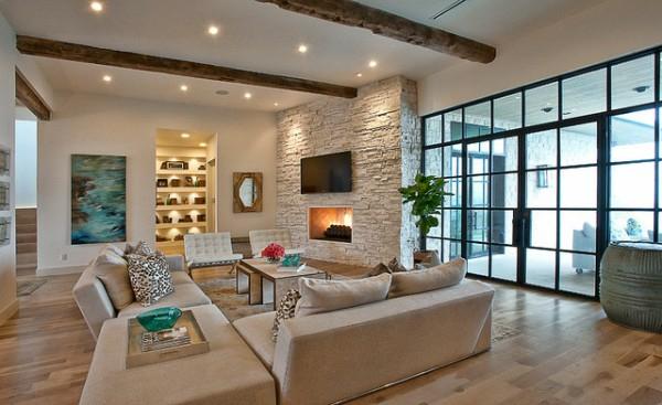 Wohnzimmer Rustikal Modern Exquisit On überall Im Landhausstil Rustikale Einrichtung Ideen 9