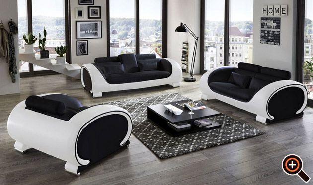 Wohnzimmer Sofa Glänzend On Für Designer Couch Modernes Fürs Aus Leder In Weiß 2