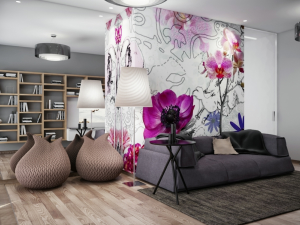 Wohnzimmer Tapeten 2015 Bemerkenswert On Innerhalb Imitieren Tapete In Holzoptik 10 7
