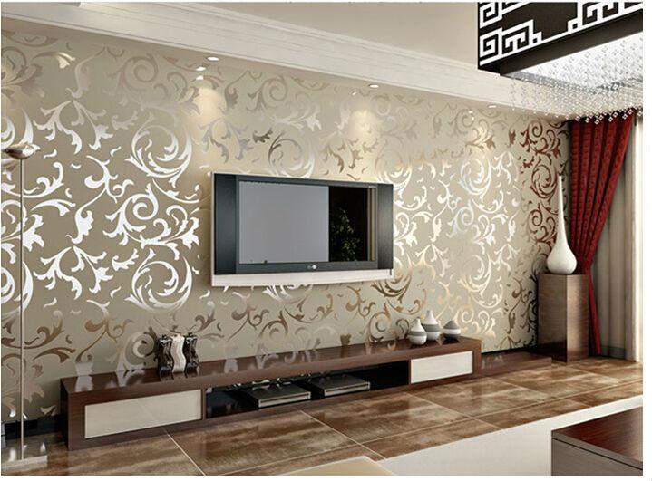 Wohnzimmer Tapeten 2015 Interessant On Auf Bequem Goldene Tapete Modern Grau 1