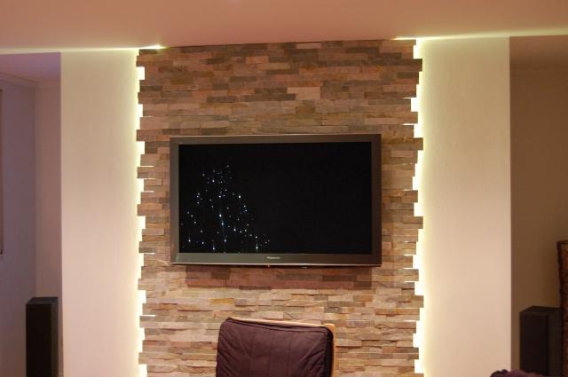 Wohnzimmer Tv Wand Ideen Beeindruckend On Innerhalb Typ Fernseher Wandgestaltung Stein Beautiful 4