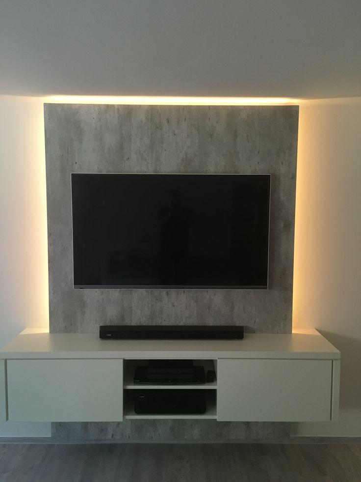 Wohnzimmer Tv Wand Ideen Fein On In Glänzend Auf Die Besten 25 8