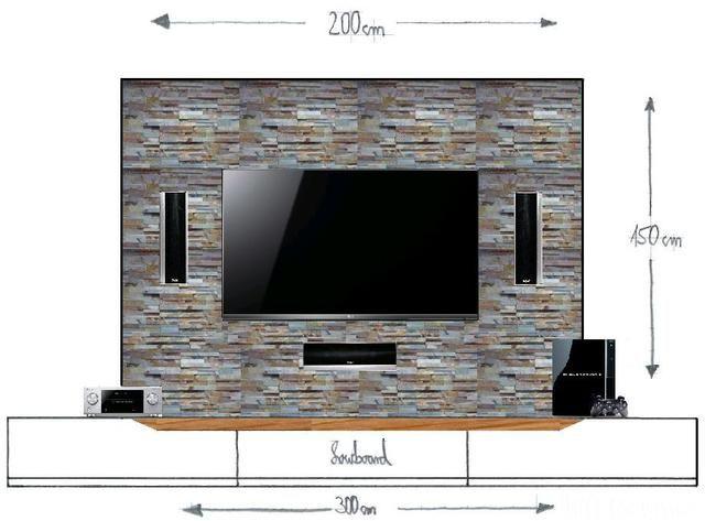 Wohnzimmer Tv Wand Ideen Herrlich On In Die Besten 25 Auf Pinterest Holz 1