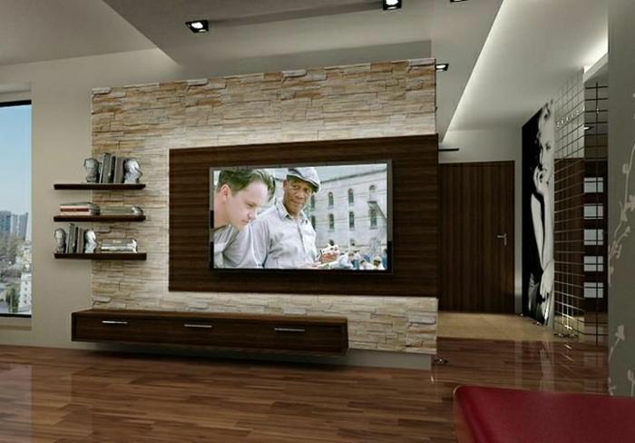Wohnzimmer Tv Wand Ideen Imposing On Auf TV Wandpaneel 35 Ultra Moderne Vorschläge Archzine Net 7