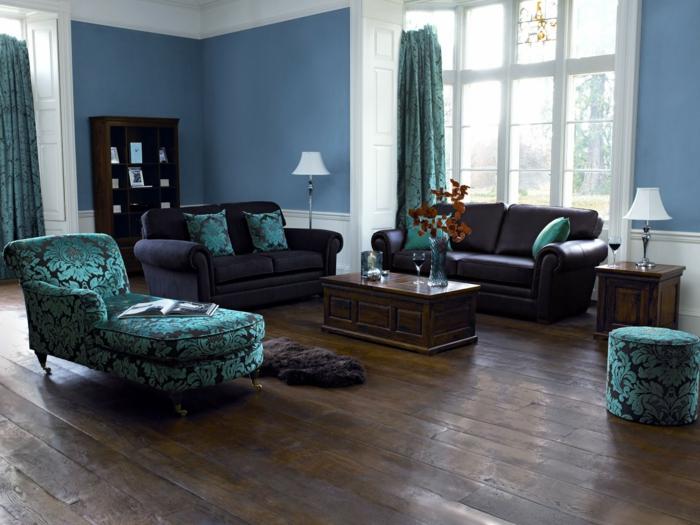 Wohnzimmer Wandfarbe Blau Exquisit On Auf 1001 Ideen Die Besten Nuancen Auswählen 8