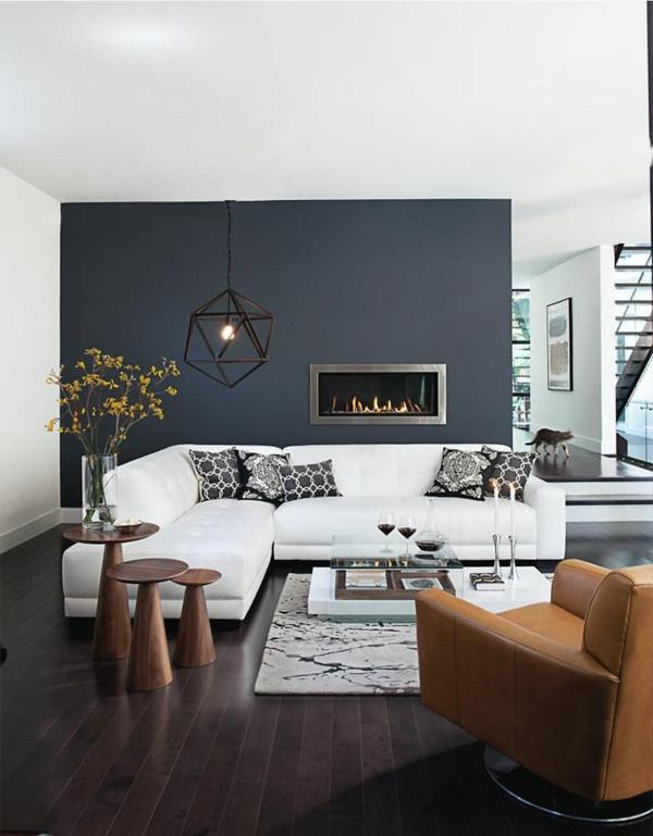 Wohnzimmer Wandfarbe Blau Großartig On Und Farbgestaltung Im Wandfarben Auswählen Gekonnt Mischen 4