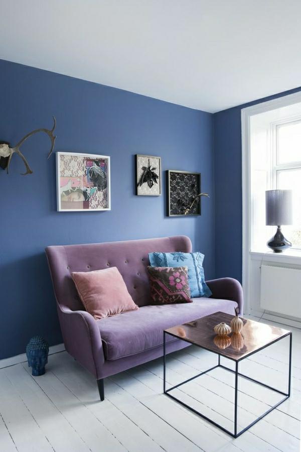 Wohnzimmer Wandfarbe Blau Perfekt On In Wandfarben Bilder 40 Inspirierende Beispiele 9