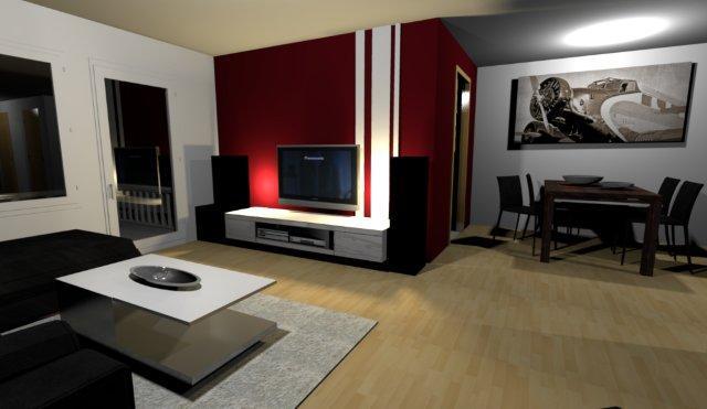 Wohnzimmer Wandgestaltung Farbe Großartig On Innerhalb Farbgestaltung Rot Moderne Deko Idee Erstaunlich 1