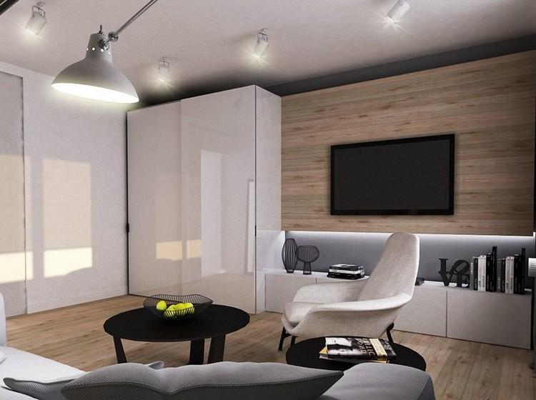 Wohnzimmer Wandgestaltung Kreativ On In Bezug Auf Im 85 Ideen Und Beispiele 7