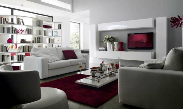 Wohnzimmer Weiß Grau Perfekt On Für In Weiss Modern Fur Wohndesign 11 5