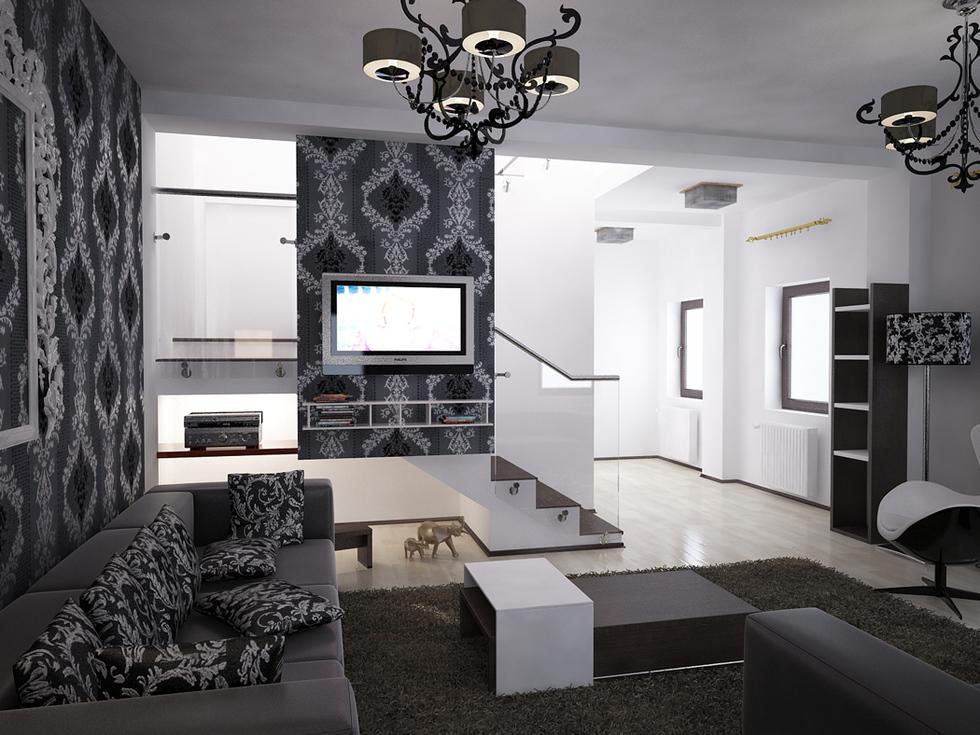 Wohnzimmer Weiß Schwarz