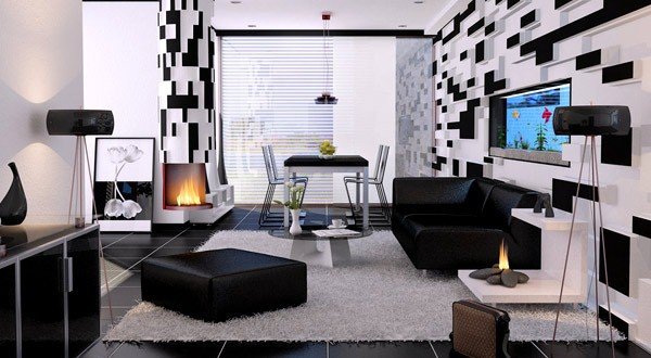Wohnzimmer Weiß Schwarz Perfekt On Beabsichtigt 21 Fantastische Gestaltungsideen Für Weiße 2