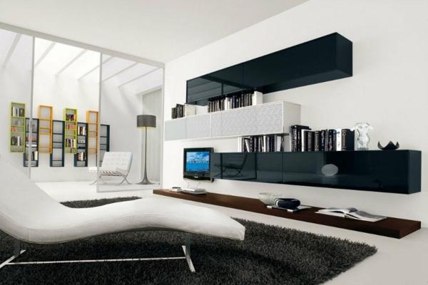 Wohnzimmer Weiß Schwarz Stilvoll On Auf Modern Weiss Www Sieuthigoi Com 9