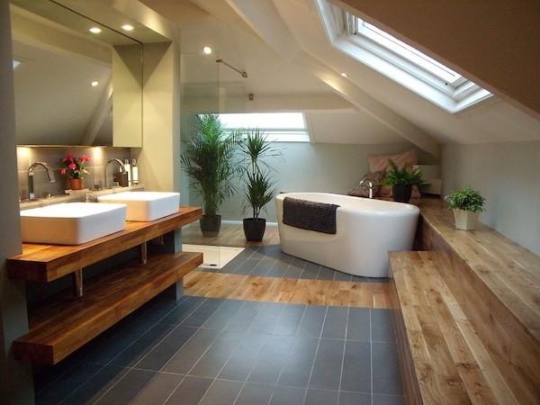 Badezimmer Dachschräge Erstaunlich On Auf Mit Design 6