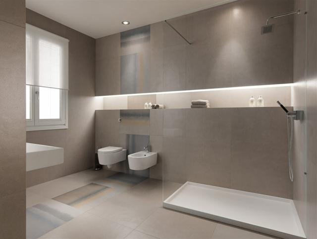 Badezimmer Grau Beeindruckend On Beabsichtigt Fliesen Gerüst Auf Plus Beige Wohndesign 8