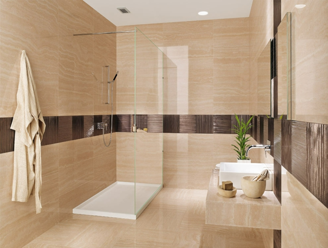 Badverkleidung Ideen Modern On Innerhalb Ungeschlagen Bad Fliesen Badezimmer 95 Inspirierende 2