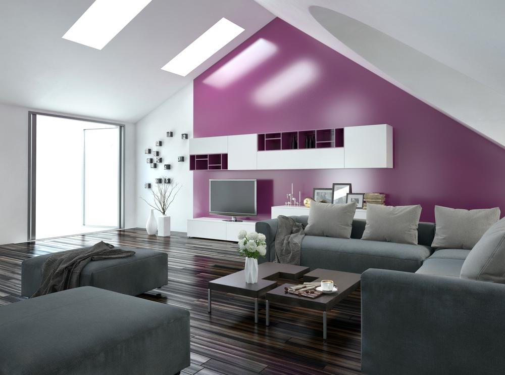 Beispiele Wandfarbe Lila Wohnzimmer Bemerkenswert On Mit Für Mode Auf Wand 1