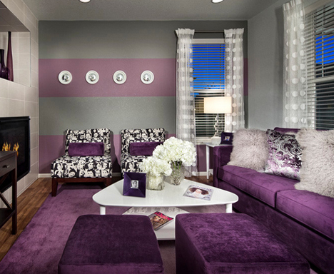 Beispiele Wandfarbe Lila Wohnzimmer Einzigartig On Auf Grau Ruaway Com 5