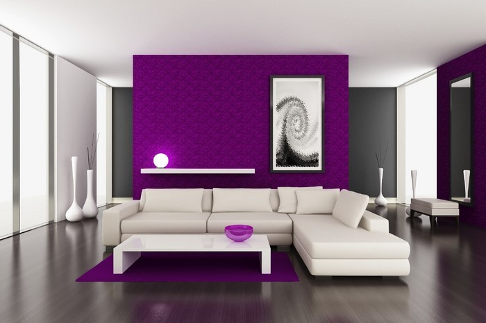 Beispiele Wandfarbe Lila Wohnzimmer Schön On Auf Bescheiden Gestalten 79 Tolle Deko Ideen 3