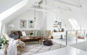 Wohnzimmereinrichtung Dachgeschoss