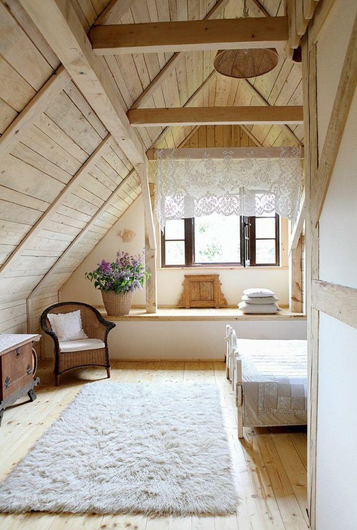 Dachgeschoss Schlafzimmer Einrichten Charmant On Für Glänzend Weißer Teppich 3