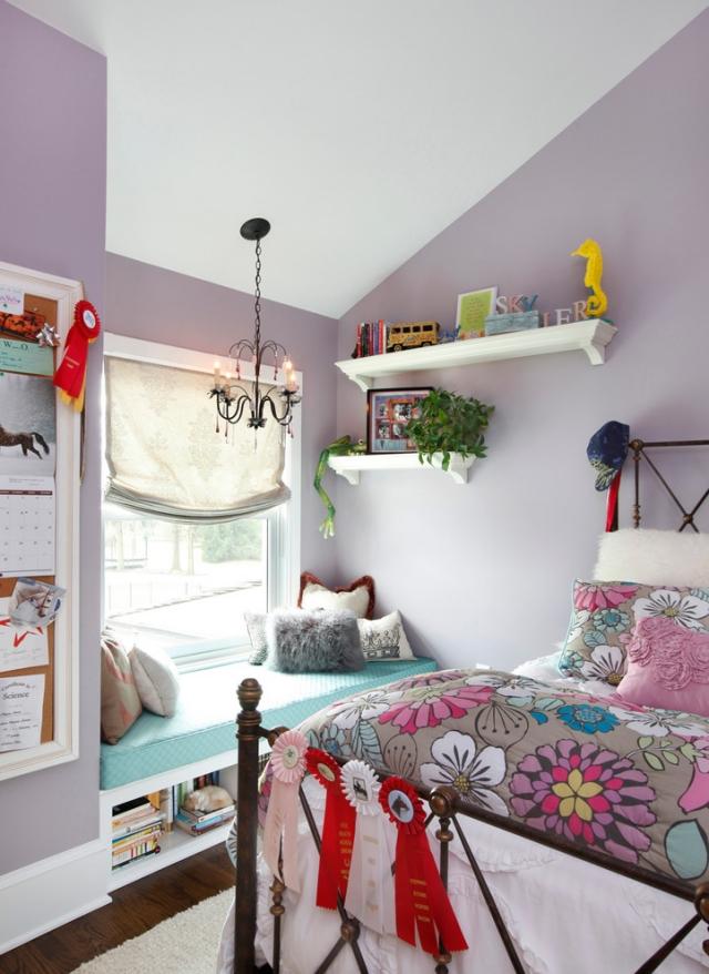 Dachschräge Lila Charmant On Andere Beabsichtigt Fensterbank Wände Dezent Streichen 5