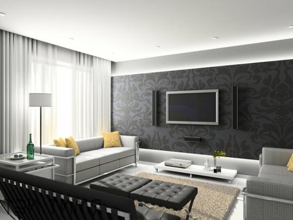 Design Wohnzimmer Grau Ausgezeichnet On Beabsichtigt Unglaublich In Bezug Auf 7