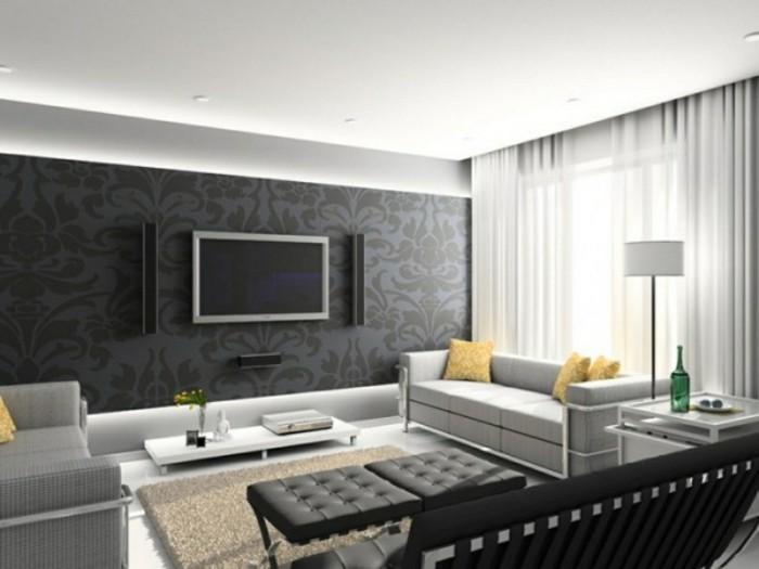 Design Wohnzimmer Grau Großartig On Innerhalb Für Stupefying Weis Kogbox Com 1 8