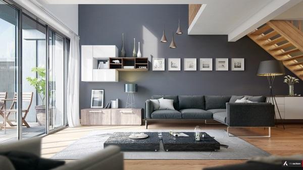 Design Wohnzimmer Grau Interessant On überall Houzzilla Com 3