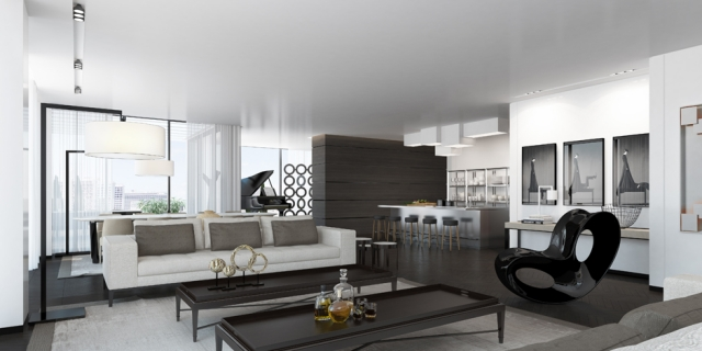 Design Wohnzimmer Grau Modern On Auf Einrichten Ideen In Weiß Schwarz Und 5