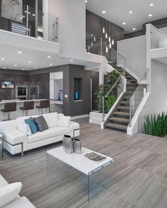 Design Wohnzimmer Grau Modern On In Bezug Auf Gestalten For Designs Bild Fur Weis 4