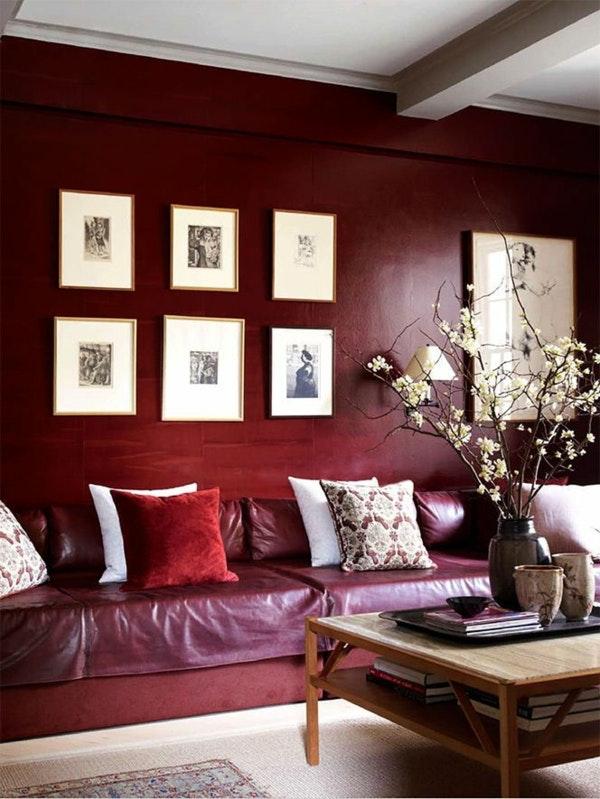 Dunkelrote Wandfarbe Für Wohnzimmer Einfach On Auf Bad Fur 7