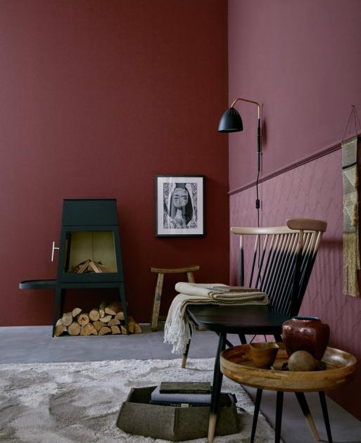 Dunkelrote Wandfarbe Für Wohnzimmer Erstaunlich On Beabsichtigt Die Rote Wand Weinrot Trendfarbe Napa Schöner Wohnen Roten 1