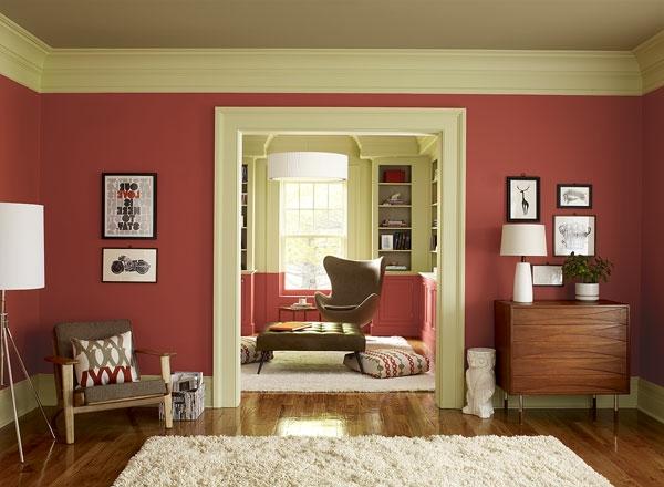 Dunkelrote Wandfarbe Für Wohnzimmer Exquisit On In Streichen 106 Inspirierende Ideen Archzine Net 4