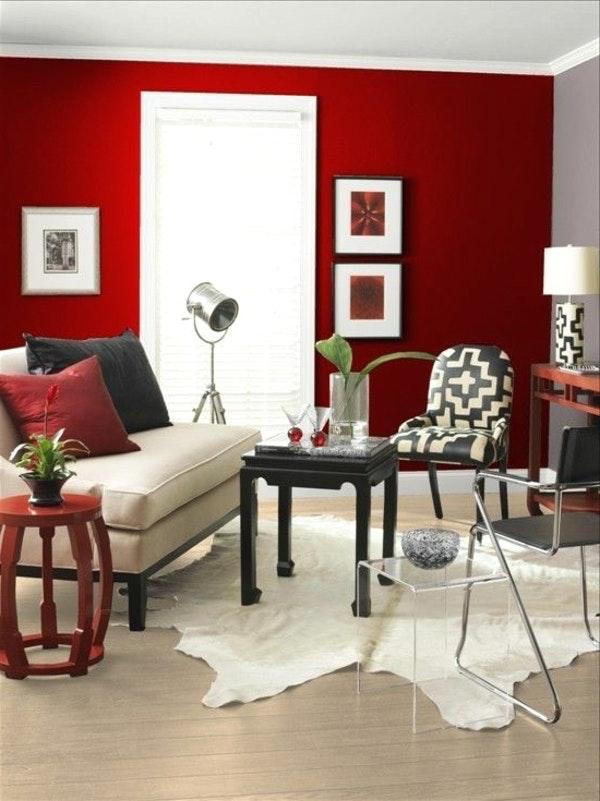 Dunkelrote Wandfarbe Für Wohnzimmer Fein On Und Fur For Designs Endet Schön Bad 2
