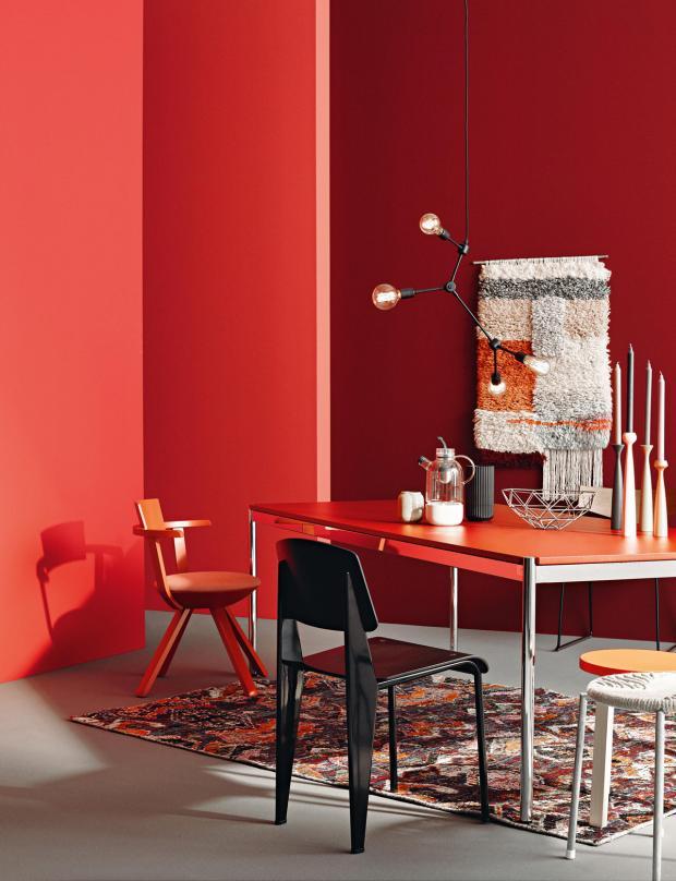 Dunkelrote Wandfarbe Für Wohnzimmer Imposing On Die Rote Wand SCHÖNER WOHNEN 3