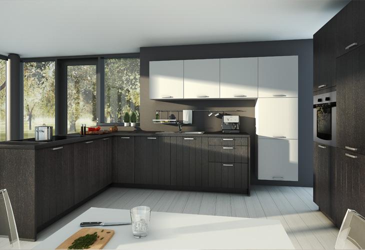 Dunkle Küche Modern On Andere Innerhalb Küchen Küchenfronten In Dunklem Holz Nussbaum Mahagoni Kirsche 6