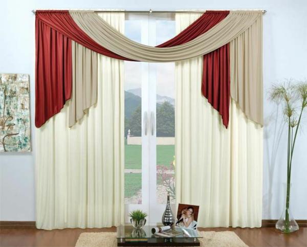 Edle Gardinen Wohnzimmer Beeindruckend On Mit 35 Rote Für Königliche Eleganz In Ihrem 9