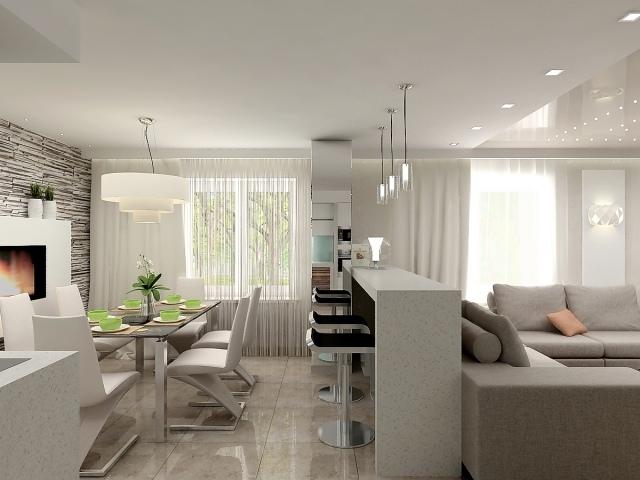 Essbereich Im Wohnzimmer Zeitgenössisch On Mit Beautiful Kleine Contemporary House 3